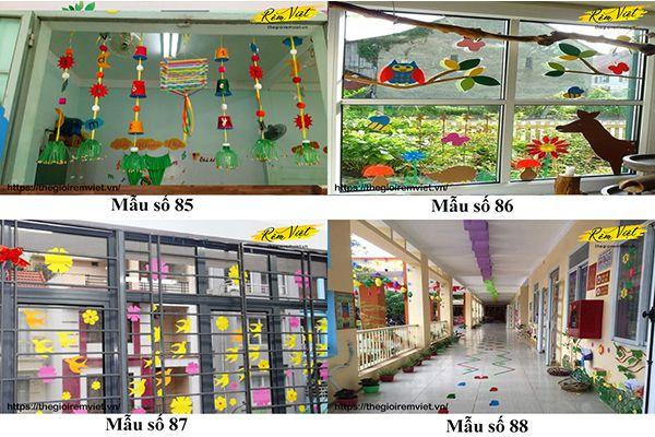 Mẫu trang trí lớp học mầm non giúp kích thích sự phát triển ý tưởng của trẻ nhỏ - Mẫu 85 đến 88