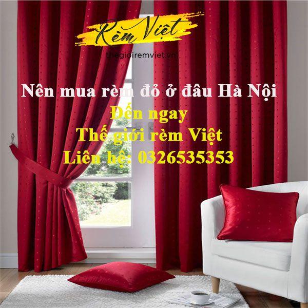 Mua rèm đỏ tại Thế giới rèm Việt đảm bảo chất lượng và ưu đãi