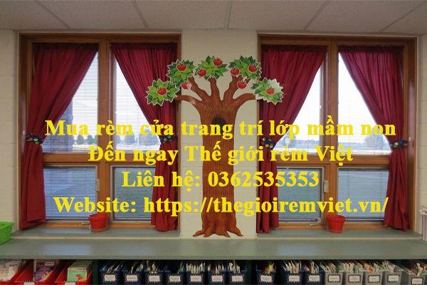 Mua rèm cửa trang trí lớp mầm non tại Thế giới rèm Việt